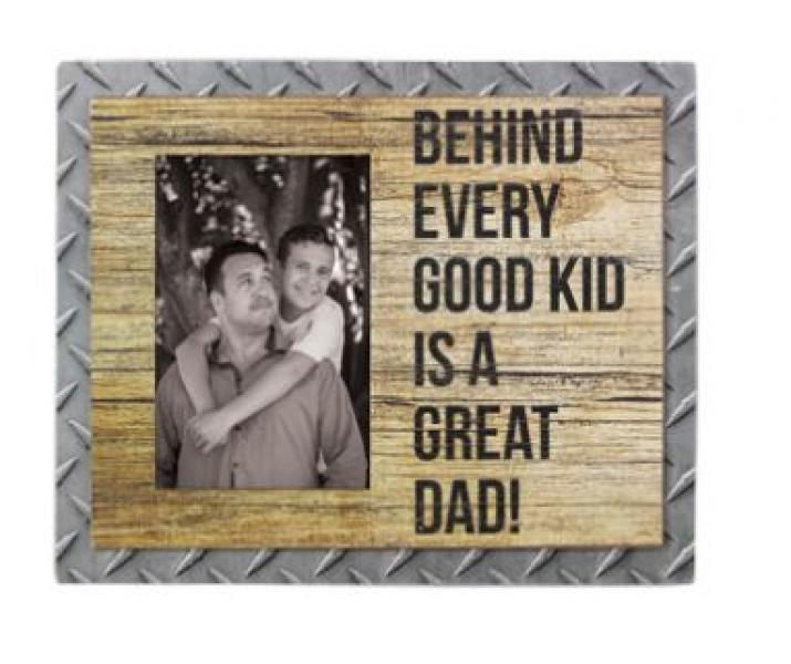 Great Dad - Wooden Photo Frame with Metal Accents - Bloom'n Things
