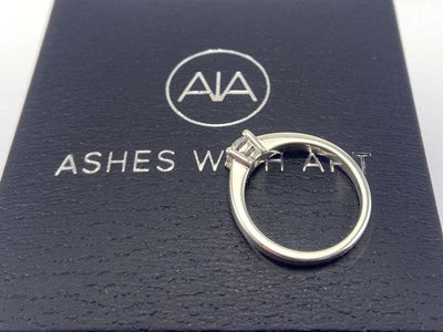 Diamond Secrets Sparkle Memorial Ring With Ashes Or Hair