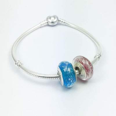 Charm Bead With Ashes And Glass