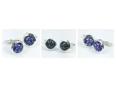 Cufflinks With Ashes And Glass