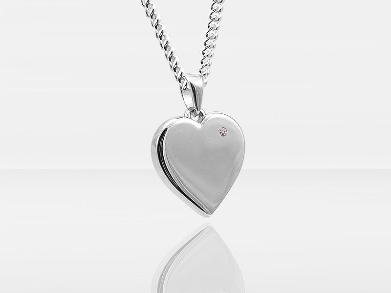 Diamond Secrets Heart Pendant Memorial With Ashes Or Hair