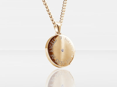 Diamond Secrets Round Pendant Memorial With Ashes Or Hair