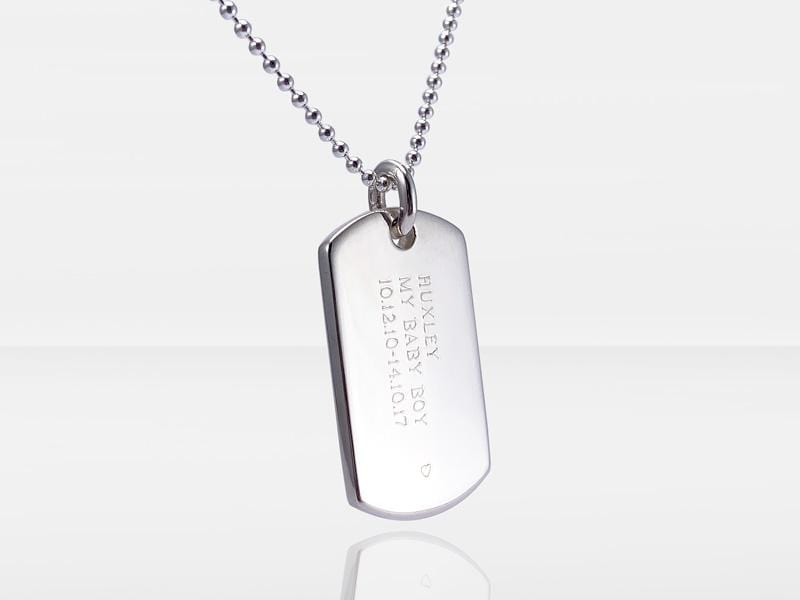 Secrets Dog Tag Memorial Pendant With Ashes Or Hair