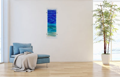Seascape Ashes And Glass Art Memorial