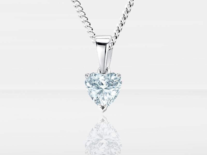 Diamond Secrets Sparkle Heart Pendant Memorial With Ashes or Hair