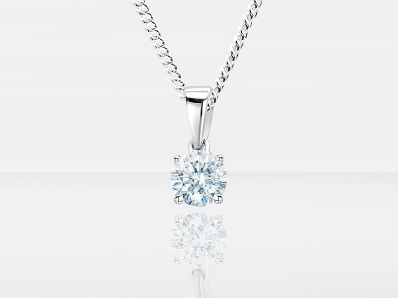 Diamond Secrets Sparkle Memorial Pendant With Ashes Or Hair