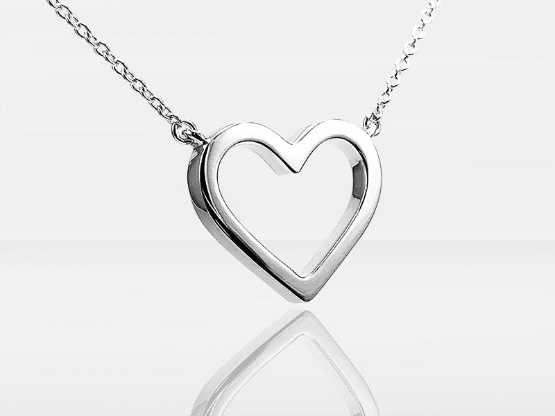 Secrets Heart Halo Trace Necklace Memorial With Ashes Or Hair