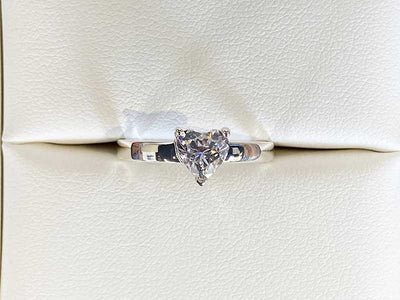 Diamond Secrets Sparkle Heart Ring With Ashes Or Hair