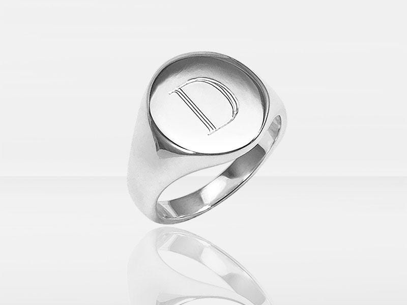 Secrets Oval Signet Memorial Ring With Ashes Or Hair