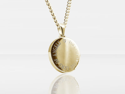 Secrets Round Pendant Memorial With Ashes Or Hair