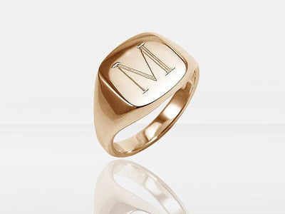 Secrets Square Signet Memorial Ring With Ashes Or Hair