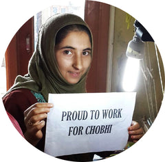 Kashmiri woman artisan who works for Chobhi