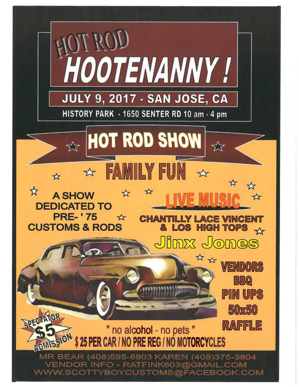 Hang With Us at Hot Rod Hootenanny in July!