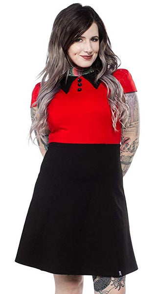 Roundabout Dress Red/Black