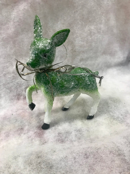 Snowy Sparkle Deer Ornament