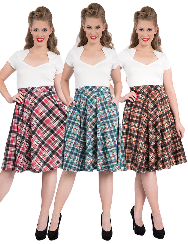 Leona Plaid Thrills Skirt