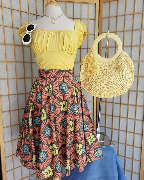 Mid Century Bloom Circle Skirt **SALE!**