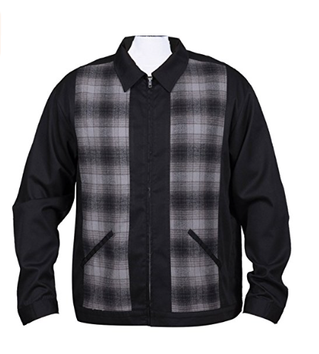 Flannel Plaid Panel Jacket