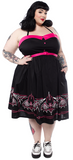 Batty PInstripe Spooksville Dress