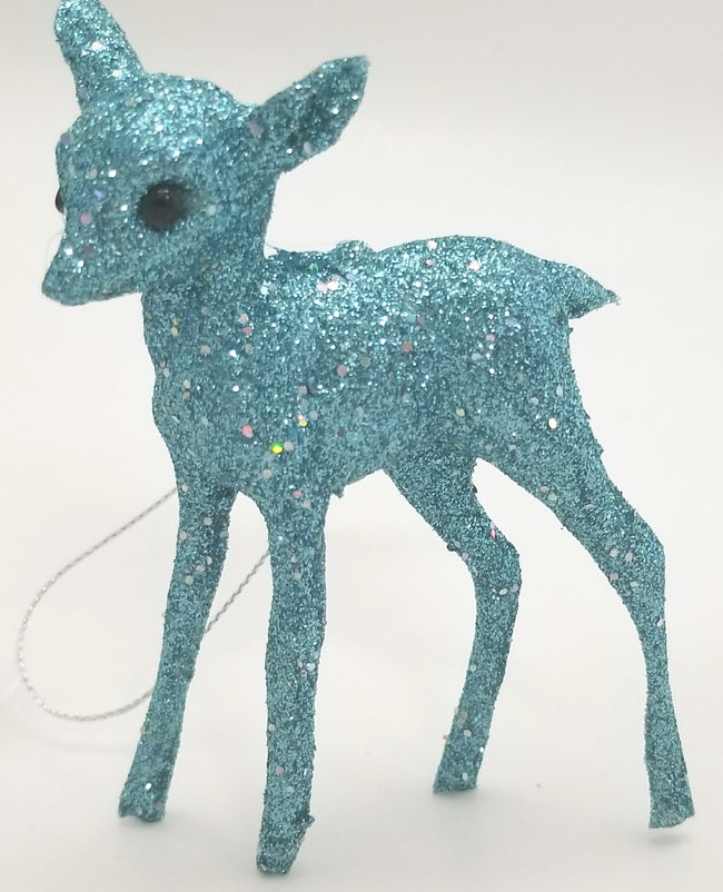 Glitter Deer Ornament