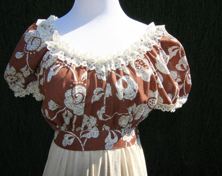 1950's Gold Floral Beaded Top AS-IS