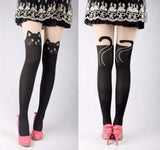 Faux Thigh Hi Cat Tights
