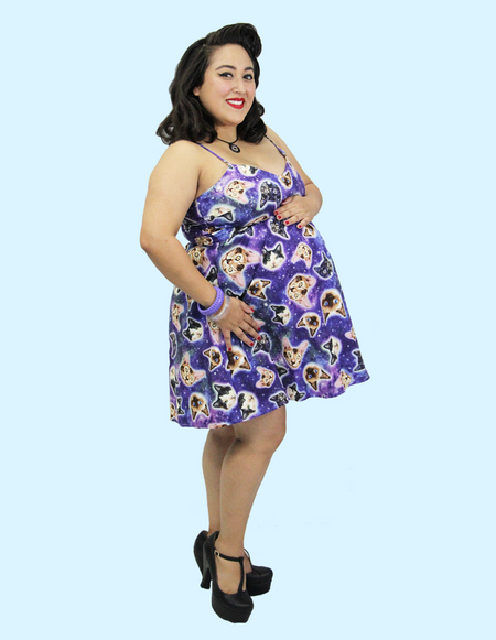 Blue Flamingo Lagoon Sarong Dress