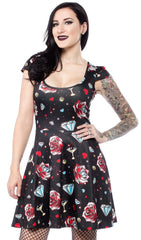 Diamonds Are Forever Skater Dress