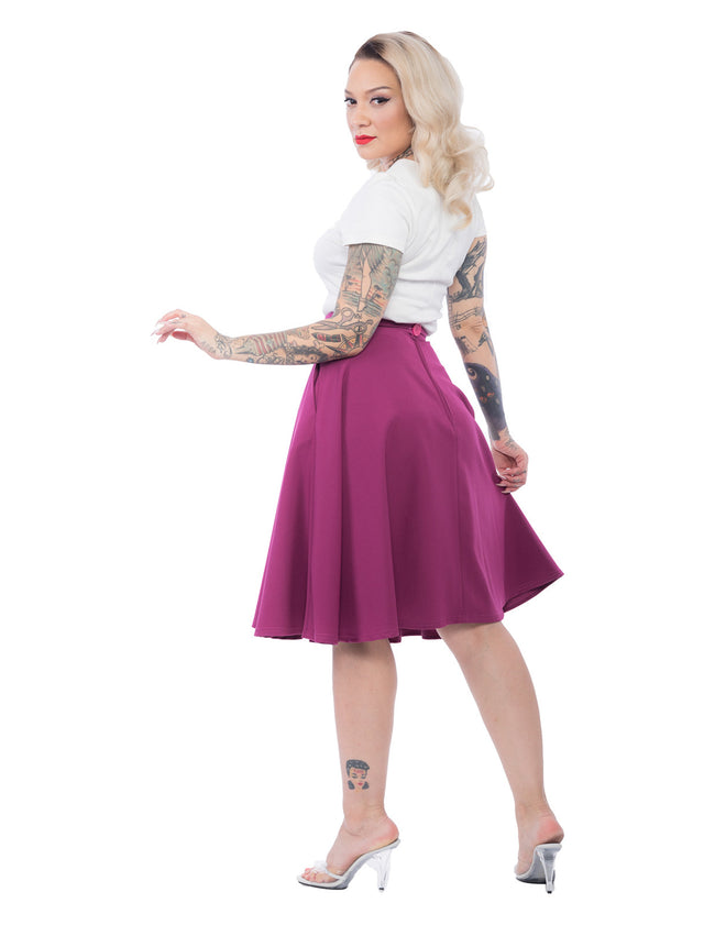 High Waisted Thrills Skirt - Magenta