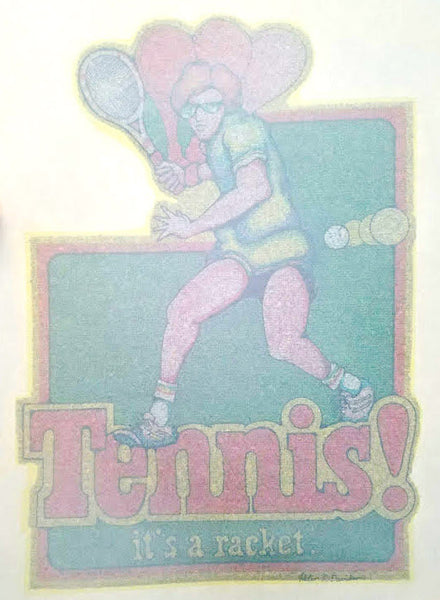 Tennis! Vintage Glitter Iron On