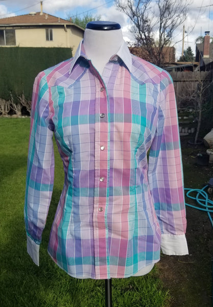 H Bar C Pastel Plaid Women's Western Shirt