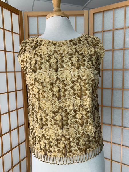 70's Railroad Station Sleeveless Knit Top