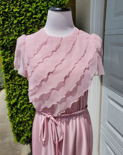 1970's Pink Mauve Gown