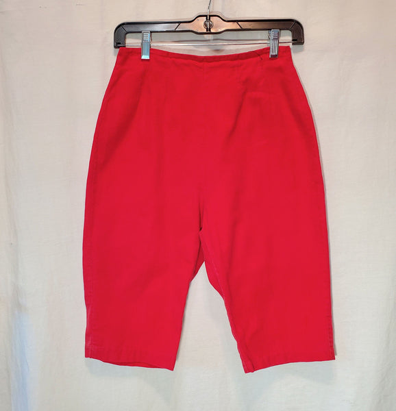 Handmade Red High Waisted Shorts Small