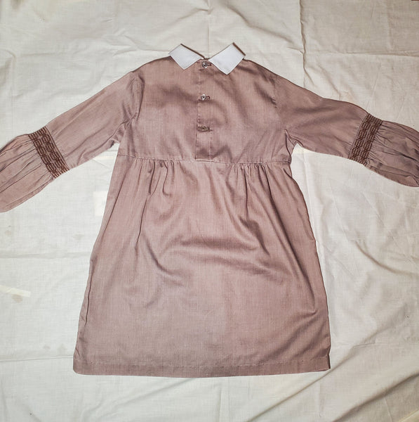 1970s Sears Little Girls Kids Smock or Peasant Style Dress