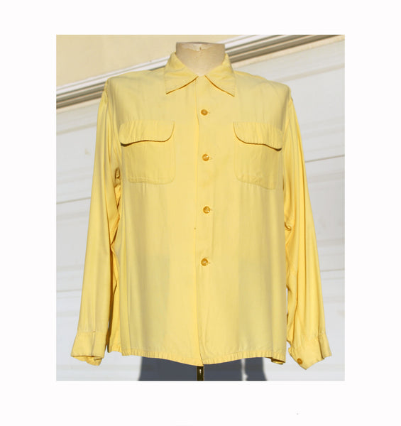 Penney's Towncraft 40's/50's Yellow Long Sleeve Men's Loop Shirt AS-IS
