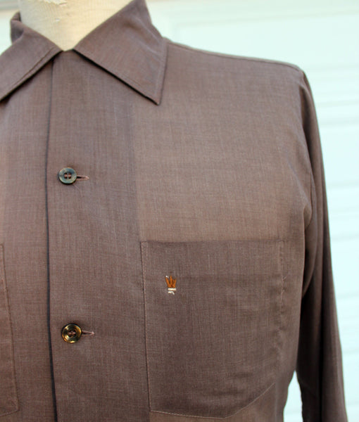 60's Arrow Decton Long Sleeve Loop Shirt Embroidered Pocket
