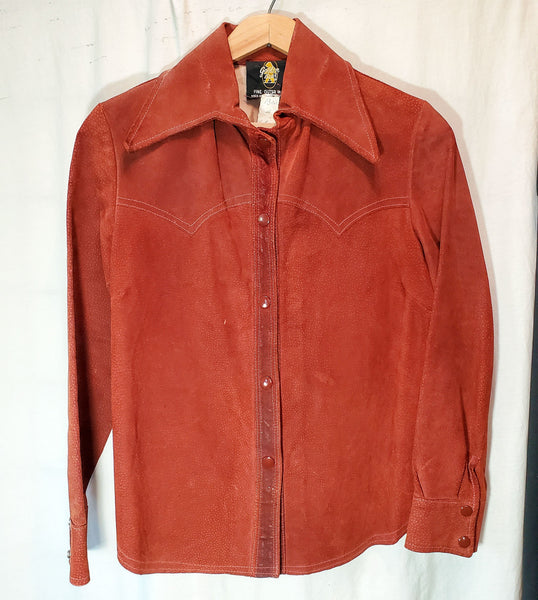 Golden Bear Vintage Suede Women's Western Shirt Jacket Outerwear
