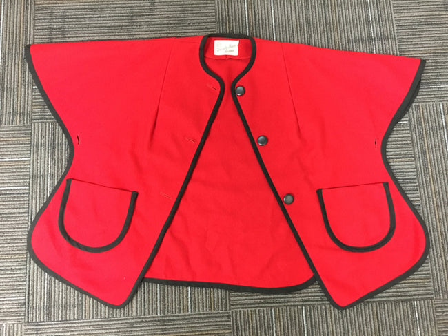 Red Wool 60's Specialty House Fashion Cape