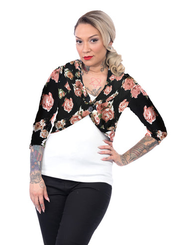 Black Floral Marilyn Sweater