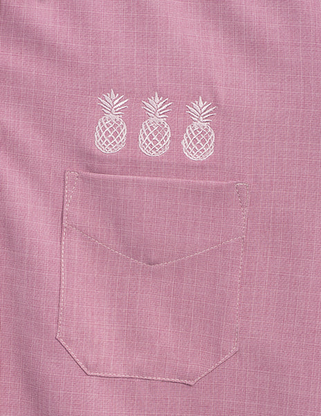 Pineapple Mixer Button Up - Rose