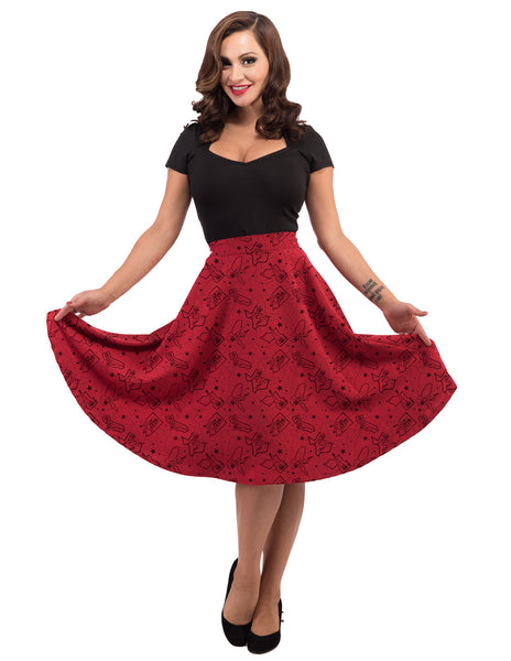 Pinup State Thrills Skirt