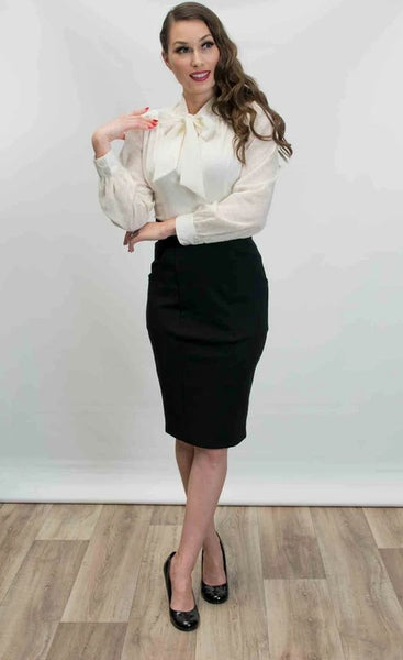 Princess Pencil Skirt - Black