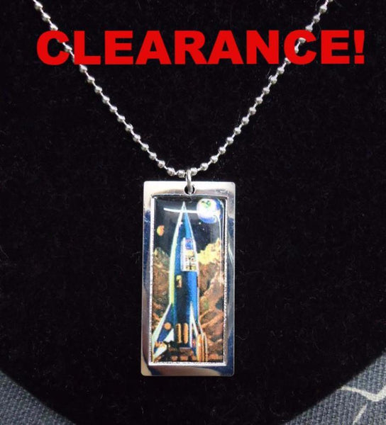 Rocket Ship Necklace *CLEARANCE*