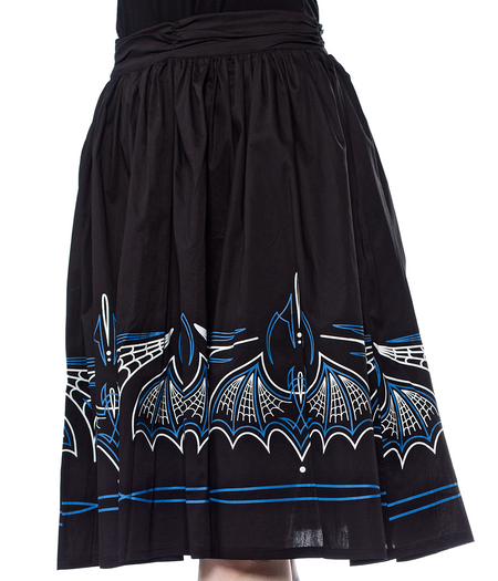 Blue Moon & Pumpkin Circle Skirt