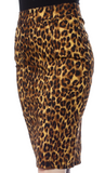 Essential Pencil Pocket Skirt - Leopard