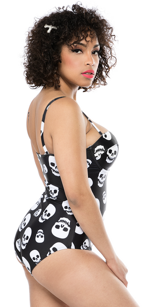 Lust for Skulls One Piece Swimsuit