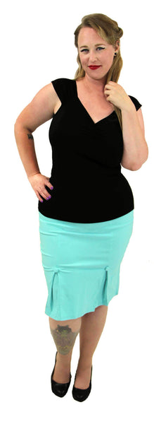 Nicole Pencil Skirt With Kick Pleats