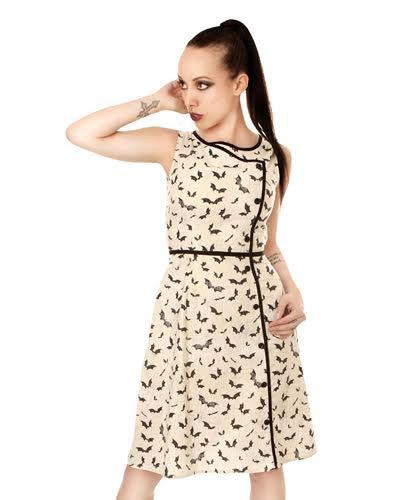 Black & White 60's Psychedelic Floral Mod Pattern Maxi Dress