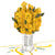 Tarjeta Pop Up Rose Bouquet Yellow